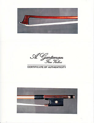 A very fine old German certified violin bow by J.W.Knopf, 1885, SUPERB!