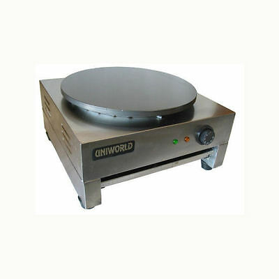 """Uniworld Commercial Pancake/Crepe Machine 15.75"""" Round Plate CE Approved UMPE-CH"""
