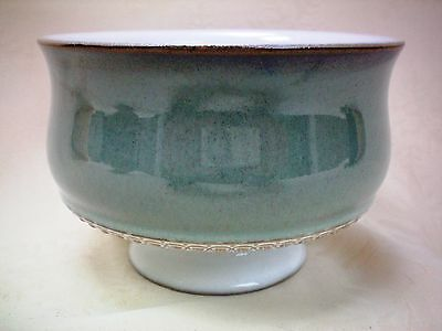 "Denby Venice Green Footed Dessert Bowl 4.5"" dia Several Available"