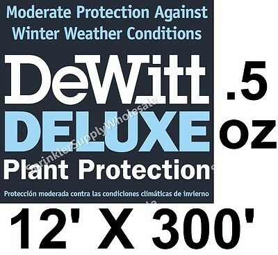DeWitt Deluxe 12' X 300' .5 oz Frost Freeze Cloth Germination Blanket Deluxe12-3