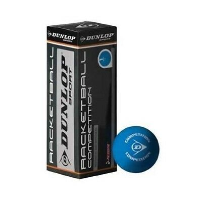 Dunlop Competition Racketball Balls - Pack of 3 - ESR approved Recreational Ball