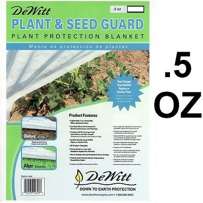 DeWitt Plant And Seed Guard 12' X10' .5oz  Frost Cloth Germination Blanket PG12
