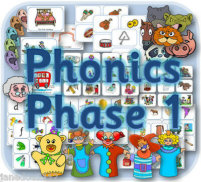 LETTERS AND SOUNDS PHASE 1 Resources phonics,KS1 EYFS literacy English on CD