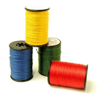 New Brownell Serving String 100 yds Blue Green Yellow Red Multi Filament Archery