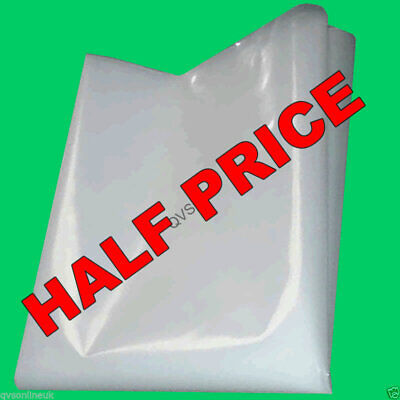 4M WIDE CLEAR POLYTHENE / PLASTIC SHEETING Various 500 Gauge Rolls & Sheets UVI