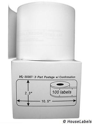 1 Roll of 100 3-Part Internet Postage Labels for DYMO® LabelWriters® 30387