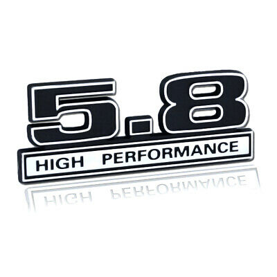 Ford Mustang Blue /& Chrome 347 High Performance 3D Stick On Embossed Emblem