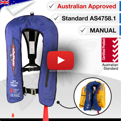 ADULT Life Jacket Inflatable PFD1 Type Yoke LifeJackets Manual Level L150N
