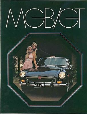 1973 MG MGB GT MGBGT Brochure mx2890-TWO7ML