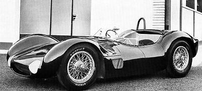 1961 Maserati Type 61 Birdcage Race Car Factory Photo J1177