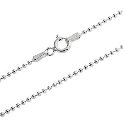 1mm sterling silver 925 Italian ball bead link chain necklace bracelet anklet