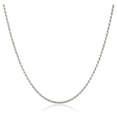 1mm solid sterling silver 925 Italian rope link chain necklace bracelet anklet