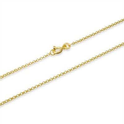 2mm 14k gold plated sterling silver 925 belcher rolo cable marine chain necklace
