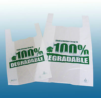 100% Degradable Plastic Vest Carrier Bags