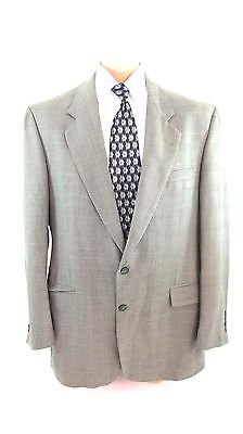 Christian Aujard Mens Olive Wool Silk Tweed Suit Jacket Sport Coat Size 44 Long