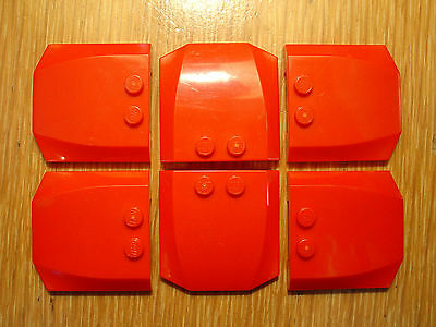 LEGO Red Wedge 4x4x2/3 Triple Curved Lot x6 Town City Fire Truck Car Parts 45677