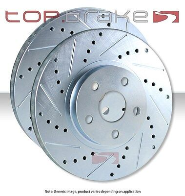 REAR SET Performance Cross Drilled Slotted Brake Disc Rotors TBS35503 FRONT