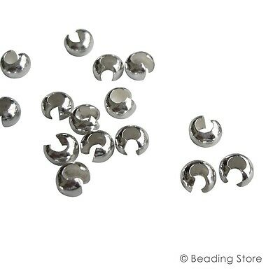 925 Sterling Silver Crimp Bead Covers Knot Cover Findings Various Sizes Packages