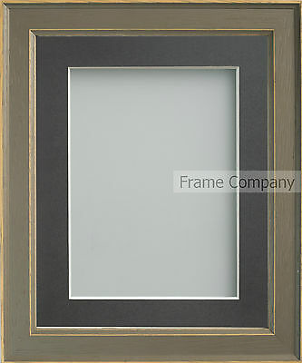 Frame Company Farrell Range Rustic Grey Wooden Picture Photo Frames with Mount
