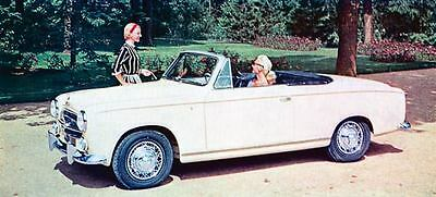 1957 Peugeot 403 Cabriolet Factory Photo J1638