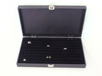 New 8 Row Tufted Ring Traveling Jewelry Display For 110+ Rings