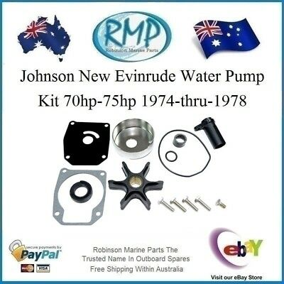 A Brand New Evinrude Johnson Water Pump Kit 3cyl 70hp-75hp 1974-1978 # R 389143