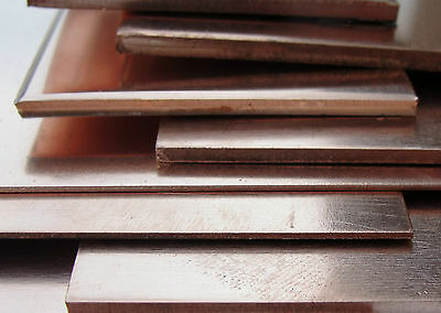 Copper Sheet Plate 300 x 100mm Guage 0.5mm - 3.0mm Thick