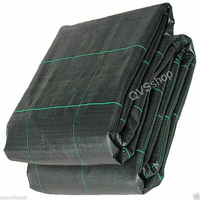1M x 20M BLACK WOVEN GARDEN/PATH WEED STOP CONTROL FABRIC SHEET 100gsm Membrane