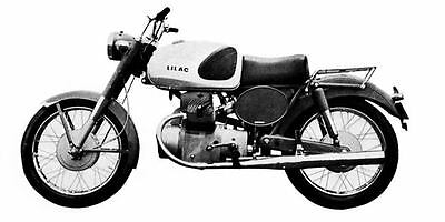 1961 Marusho Lilac CF40 Motorcycle Factory Photo J1982