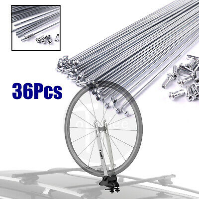 36 Pack of bike bicycle cycle 245mm wheel steel wire spokes 13# Raw wire