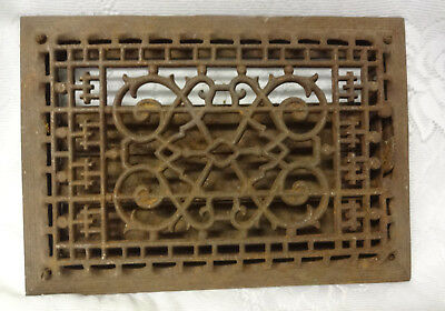 Vintage Ornate Heat Register Cast Iron Wall Floor Grate Heat Vent