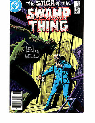 Swamp Thing #21 SIGNED By Len Wein Origin Key Issue Alan Moore Newsstand DC 1984