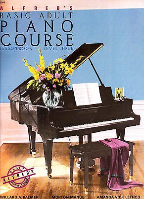 Alfreds Basic Adult Piano Course Tutor Music Book 3 New