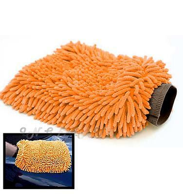 Car Valeting Cleaning Large Absorbant Chenille Microfibre Wash Mitt Glove Cloth