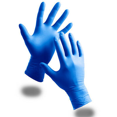 Box Of 100 EXTRA STRONG Medical Grade Blue Powder Free Nitrile Disposable Gloves