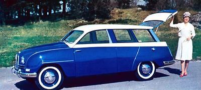 1960 Saab 95 Station Wagon Factory Photo J273