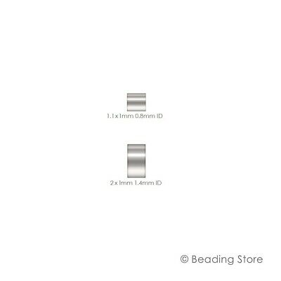 Silver Filled Crimp Beads Bead Cut Tube Beads Beading Various Sizes & Packages
