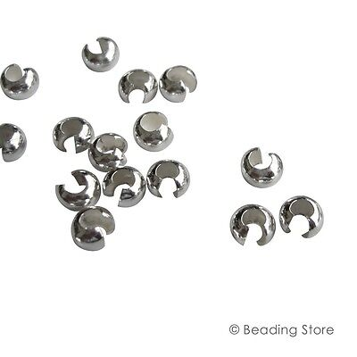 Silver Filled Crimp Beads Bead Covers Knot Cover Findings Various Sizes