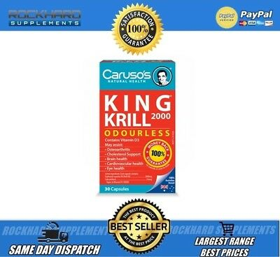 Caruso's Natural Health King Krill 2000Mg 30 Tabs Mega Dose Pack * Krill Oil