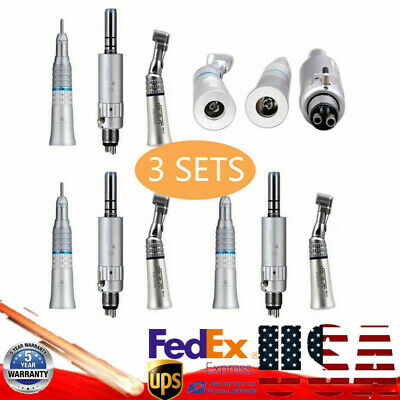 3KIT NSK Type Dental Slow Speed Handpiece Straight Contra Angle Air Motor E-Type