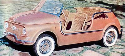 1958 Fiat 500 Jolly Ghia Speciale Factory Photo J657