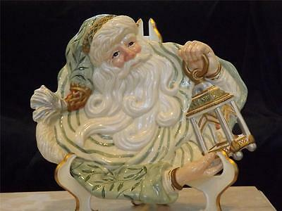 Fitz and Floyd Classics Gregorian Collection Canape Santa Plate Hat Lantern