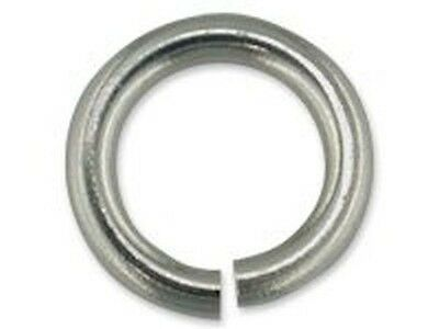 Platinum Jump Ring 3mm 4mm Heavy Open- REAL SOLID PLATINUM