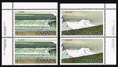 Canada 726 727 High Value National Parks MINT PLATE PAIRS - XF NH PO PERFECT
