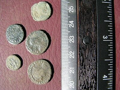 5 Ancient Roman coins + 4 oz. Mint State Restoration Coin Cleaner M186