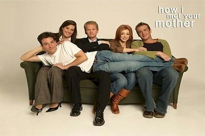 HOW I MET YOUR MOTHER POSTER ~ COUCH CAST 24x36 Josh Radnor Neil Patrick Harris