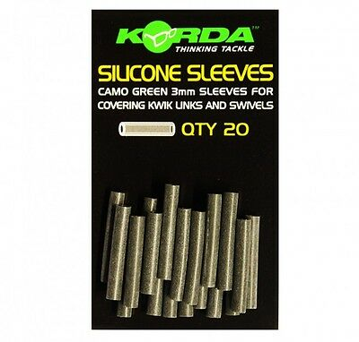 Korda NEW Carp Fishing Silicone Sleeves 3mm *Green Or Brown*