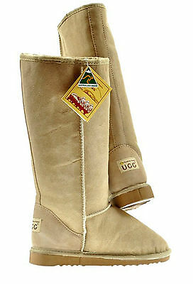 BNWT Sydney Rams Women's Men's Classic Long Ugg Boots Aus Made Sand Colour
