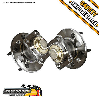 2 NEW Rear Left & Right Wheel Hub and Bearing Assembly Pair 2WD FWD F401214