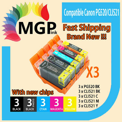 30x Ink Cartridge PGI520 CLI521 for Canon MP620 MP630 MP640 MX870 MX860 Printer